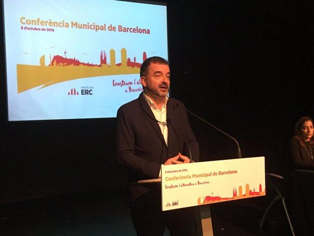 El líder de ERC en el Ayuntamiento de Barcelona, Alfred Bosch
