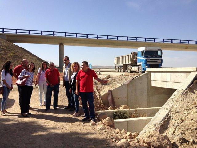 Visita del PP a obras de la Segunda Circunvalación de Granada