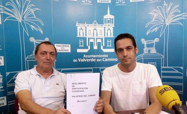 El viceportavoz del PSOE en Valverde del Camino, Javier Becerril
