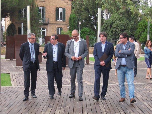 Jordi Jané, Miquel Buch y Carles Puigdemont