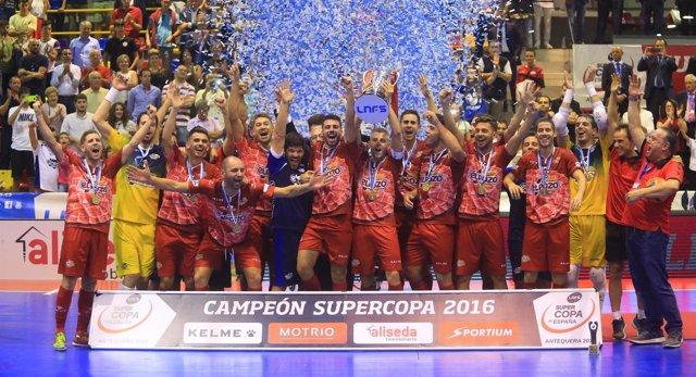 ElPozo Murcia, campeón de la Supercopa 2016 de fútbol sala