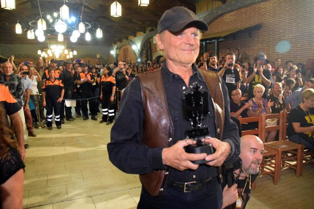 Entrega de premio del Almería Western Film Festival a Terence Hill