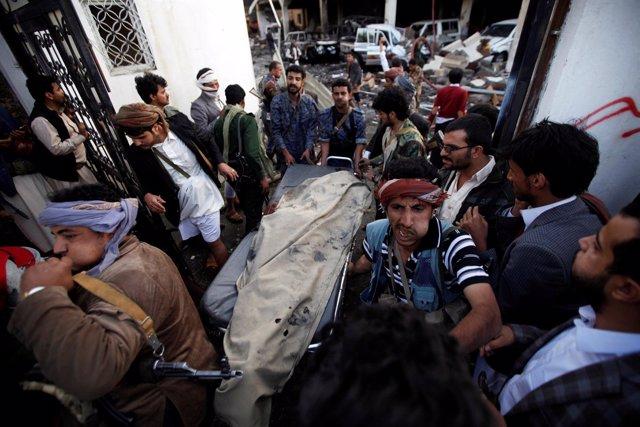 Ataque sobre funeral en Yemen octubre 2016
