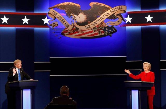 Hillary Clinton y Donald Trump en el primer debate presidencial