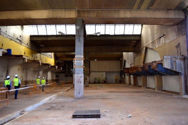 Interior de la antigua fábrica de Clesa en Madrid que Metrovacesa rehabilitará