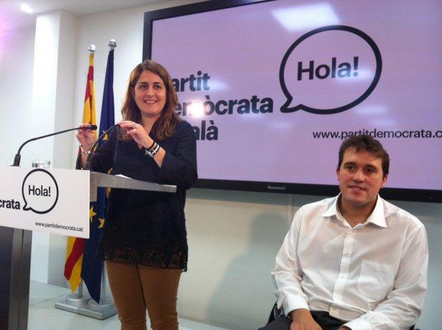 M.Pascal y D.Bonvehí (PDC) en rueda de prensa en Barcelona