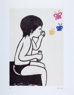 Una de las obras de Dulce Rodríguez que se puede ver en Tardienta