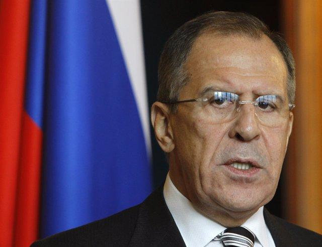 El Ministro De Asuntos Exteriores De Rusia, Sergei Lavrov