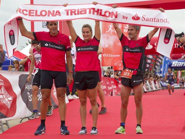 Miguel Indurain Mireia Belmonte Martín Fiz Barcelona Triathlon by Santander