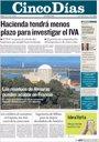Foto: Las portadas de los periódicos económicos de hoy, lunes 10 de octubre