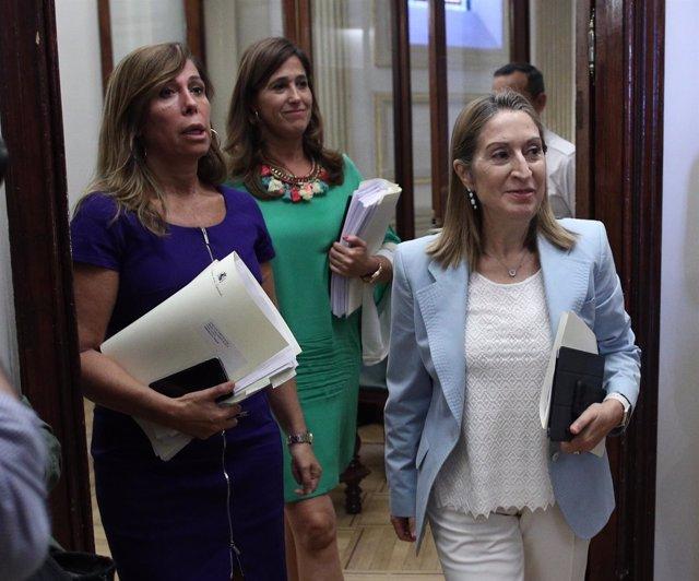 Ana Pastor y Alicia Sánchez Camacho en el Congreso