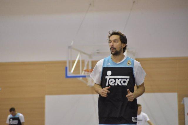 Sergio Llull, entrenando