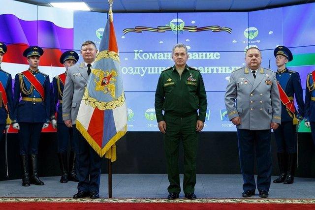 El ministro de Defensa ruso, Sergei Shoigu, en un acto en el Ministerio de Defen