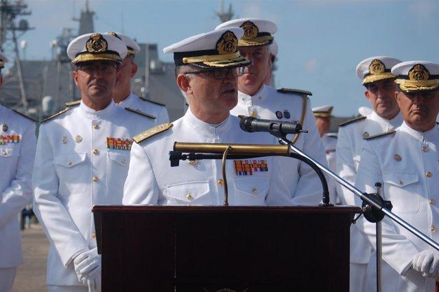 Toma de posesión de Juan Rodríguez Garat como Almirante de la Flota