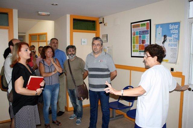 Eva Oliva en el centro de salud de Cerro Amate.