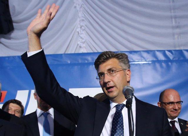 Andrej Plenkovic, líder de la Unión Democrática Croata (HDZ).