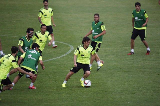 Entrenamiento de la Selección Española de fútbol