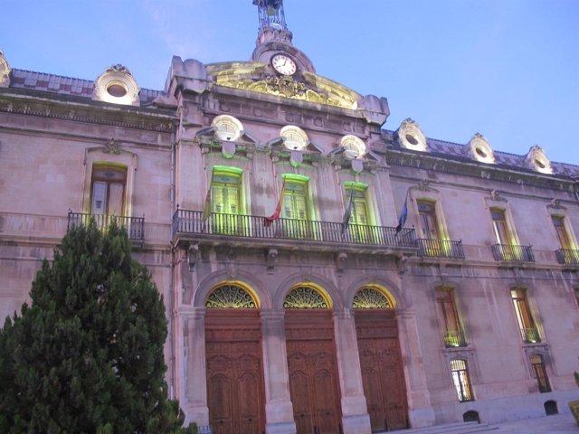 Iluminación del Palacio de la Diputación de Jaén por los enfermos mentales