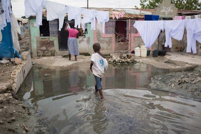 Afectado por huracán en Haití