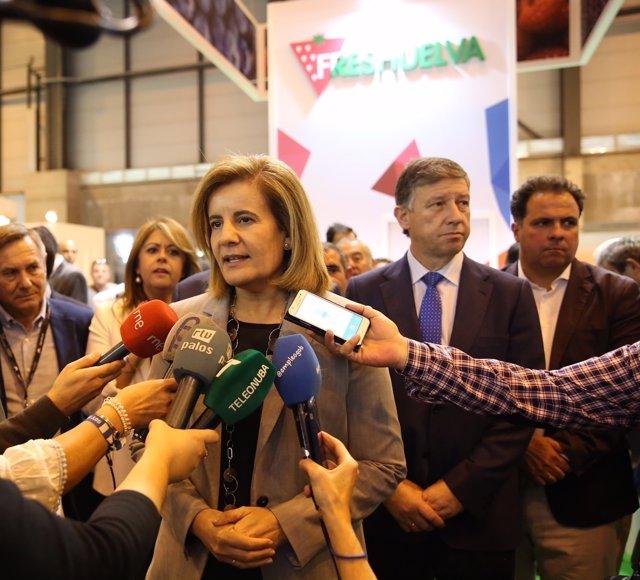 Fátima Báñez en la inauguración de FruitAttraction