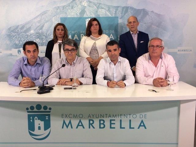 Equipo de Gobierno de Marbella octubre 2016