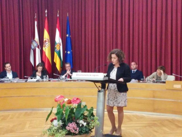 La portavoz del PSOE en el Debate sobre el Estado de la Ciudad