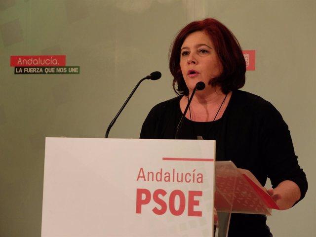 La candidata del PSOE de Granada al Congreso, Elvira Ramón.