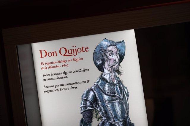 Exposición 16 personajes que maravillan y...Miguel de Cervantes