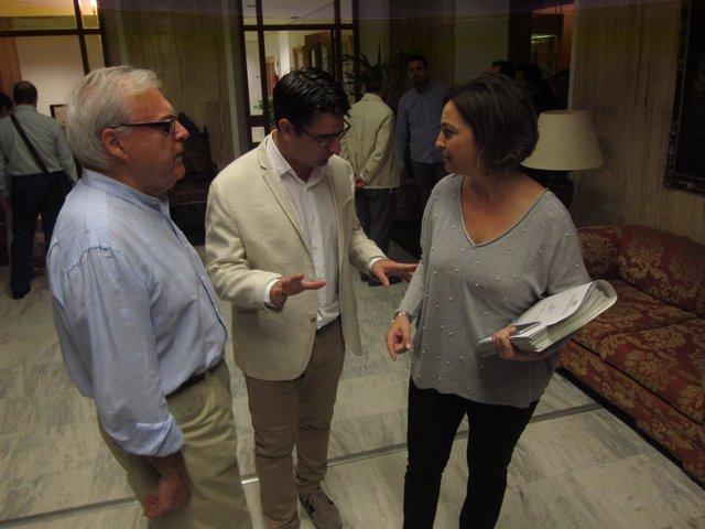 Isabel Ambrosio, Pedro García y Emilio Aumente