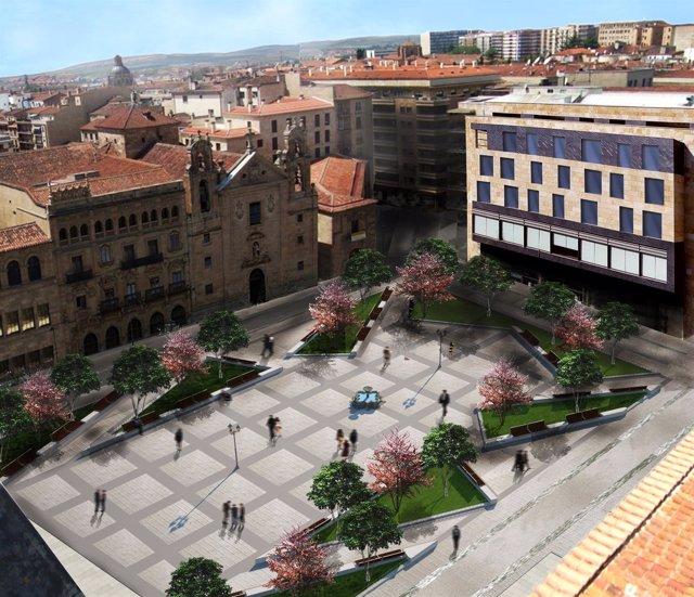 Imagen prevista de la Plaza de los Bandos en 2018.