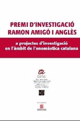 Convocatoria del Premi d'Investigació Ramon Amigó i Anglès