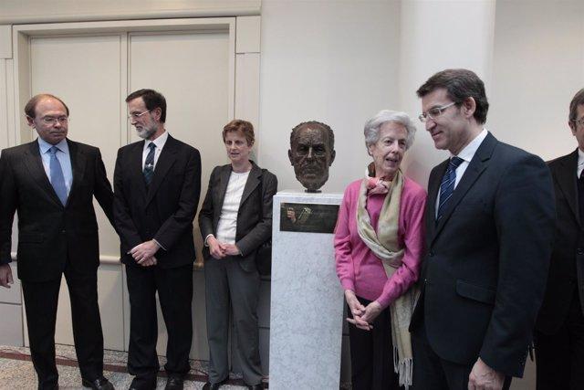Inauguración del Busto de Fraga en el Senado
