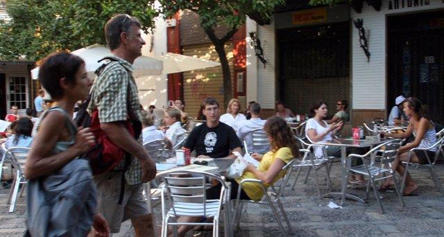 Veladores en Sevilla.