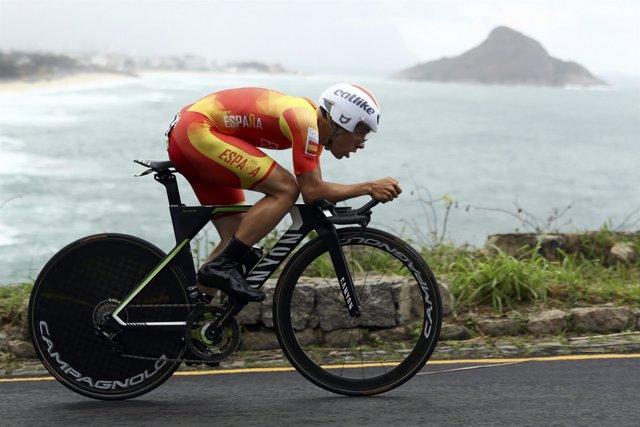 Jonathan Castroviejo en la contrarreloj olímpica de Río