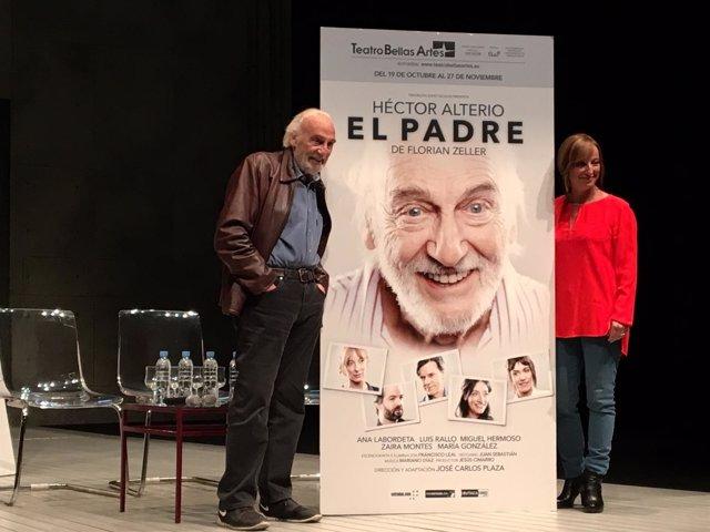 Héctor Alterio y Ana Labordeta presentan la obra 'El Padre' en el Teatro Bellas