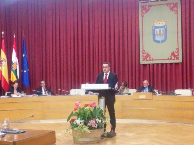 El portavoz del PP en el Ayuntamiento en su discurso Debate Ciudad