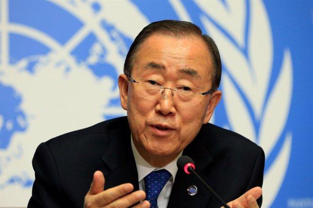 El secretario general de la ONU, Ban Ki Moon