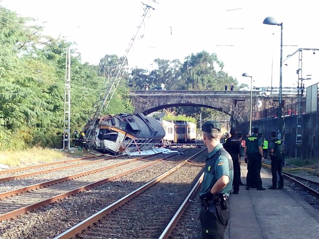 Accidente de tren de O Porriño, en Pontevedra
