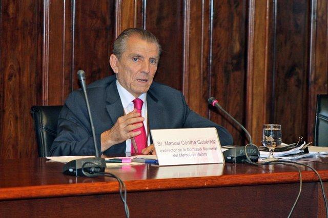 El exdirector de la Comisión Nacional del Mercado de Valores, Manuel Conthe