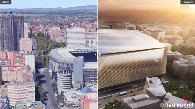 El antes y el después del estadio Santiago Bernabéu