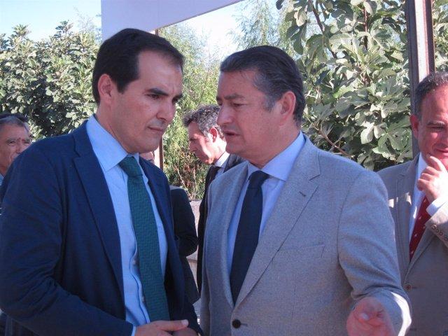 Antonio Sanz con José Antonio Nieto
