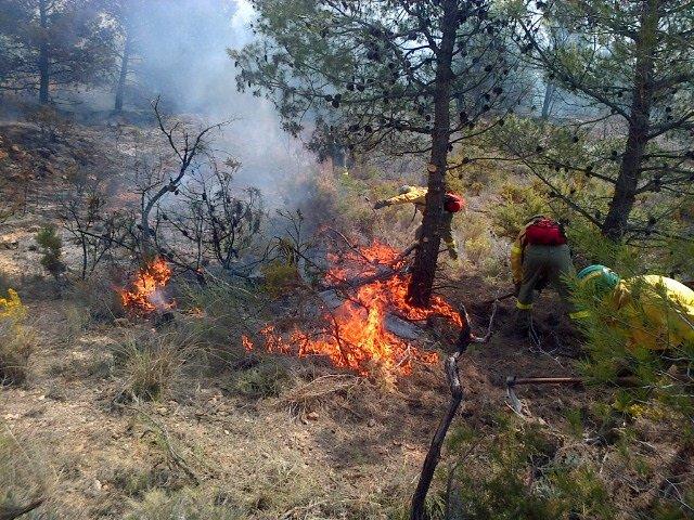 Incendio en Sierra de Gádor