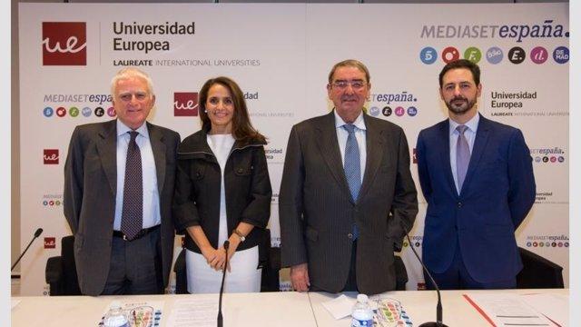 Paolo Vasile, Marta Muñiz, Alejandro Echevarría y Luis Alonso Martin-Romo.