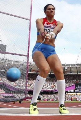 La atleta rusa Tatyana Lysenko, oro en martillo
