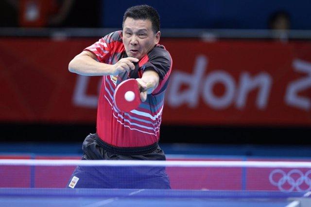 He Zhiwen, 'Juanito', jugador español de Tenis de Mesa