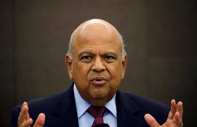 El ministro de Finanzas de Sudáfrica, Pravin Gordhan.
