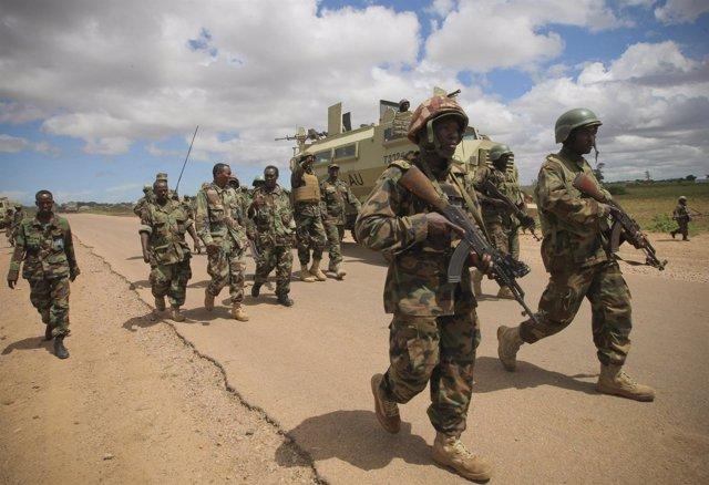 Las Fuerzas De La Misión De La UA En Somalia (AMISOM)