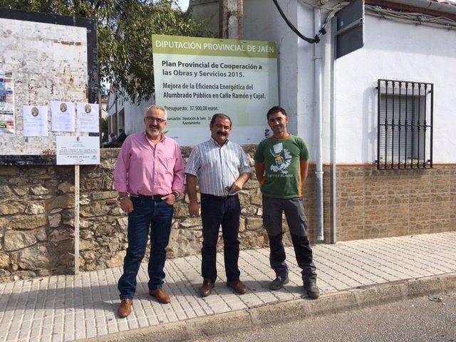 El diputado José Castro visita obras en Villanueva del Arzobispo (Jaén)