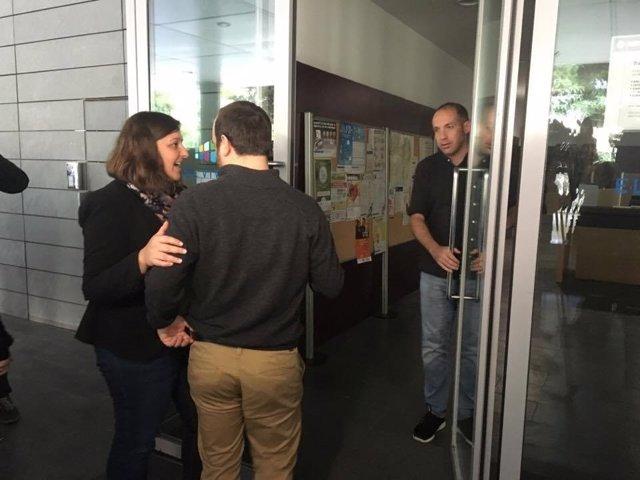 Los concejales de Badalona, Laia Sabater y Francesc Duran