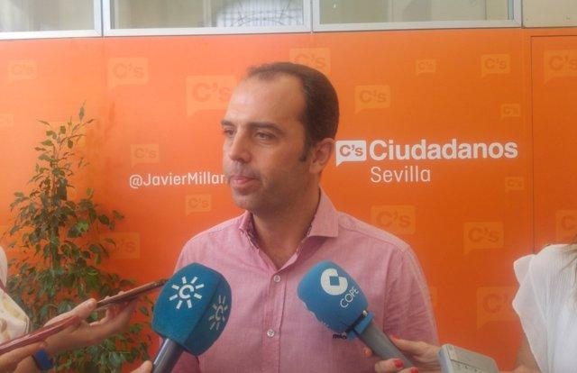 El portavoz municipal de C's en Sevilla, Javier Millán